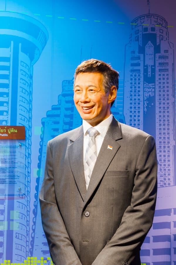 BANGKOK, TAILANDIA - 19 DICEMBRE: Figura di cera di Lee Hs famoso fotografie stock