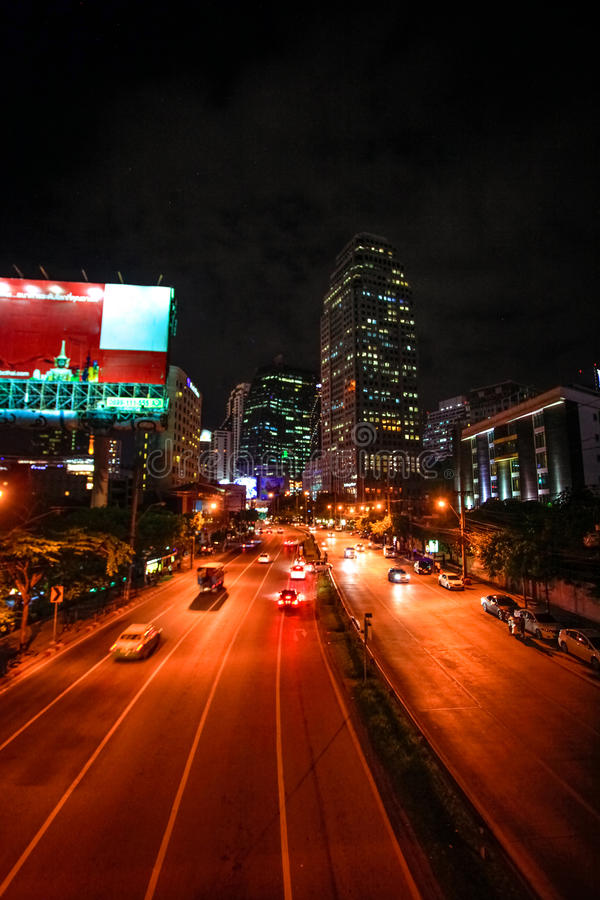 BANGKOK, TAILANDIA, el 4 de agosto de 2014, tráfico en a imágenes de archivo libres de regalías