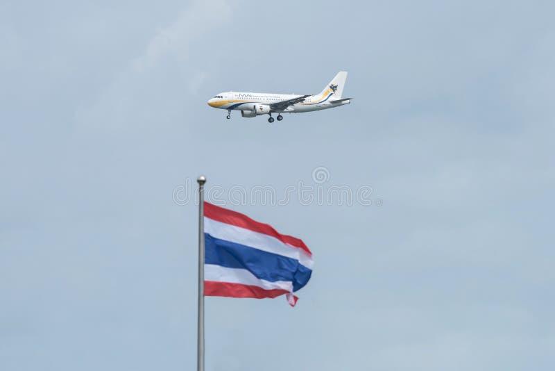 Bangkok, Tailandia, el 12 de agosto de 2018: Registro de Myanmar Airways No XY-AG imagen de archivo libre de regalías
