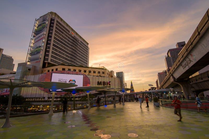 Bangkok, Tailandia 7 gennaio 2018: Centro di MBK, anche conosciuto come fotografia stock libera da diritti