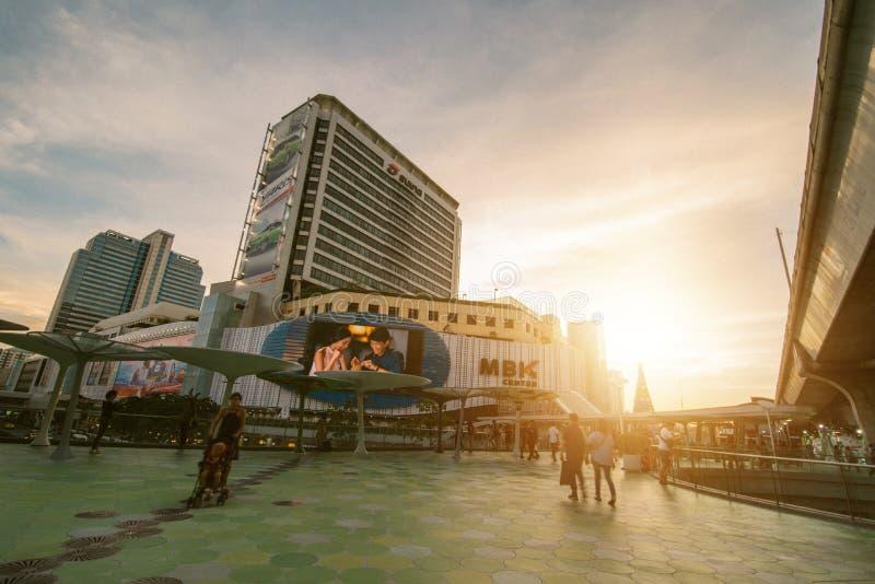 Bangkok, Tailandia 7 gennaio 2018: Centro di MBK, anche conosciuto come immagini stock libere da diritti