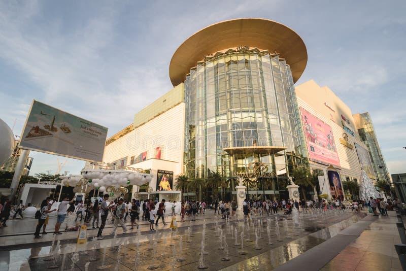 Bangkok, Tailandia 7 gennaio 2018: Siam Paragon è un acquisto fotografie stock libere da diritti