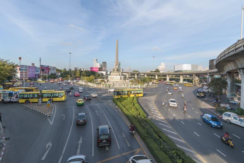 Bangkok, Tailandia 7 gennaio 2018: Victory Monument è un mili fotografie stock libere da diritti