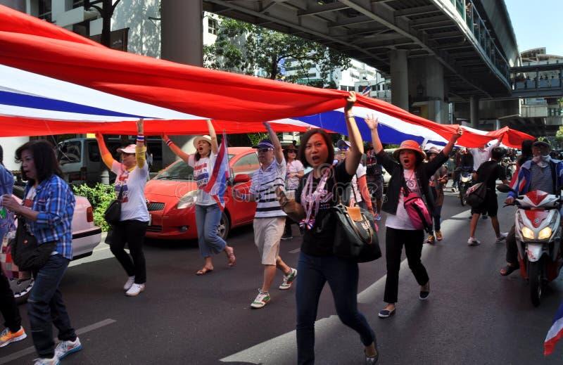 Bangkok, Tailandia: L'operazione ha interrotto i protestatari di Bangkok immagini stock