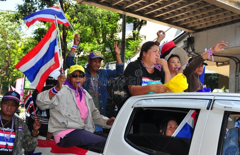 Bangkok, Tailandia: L'operazione ha interrotto i protestatari di Bangkok immagine stock libera da diritti