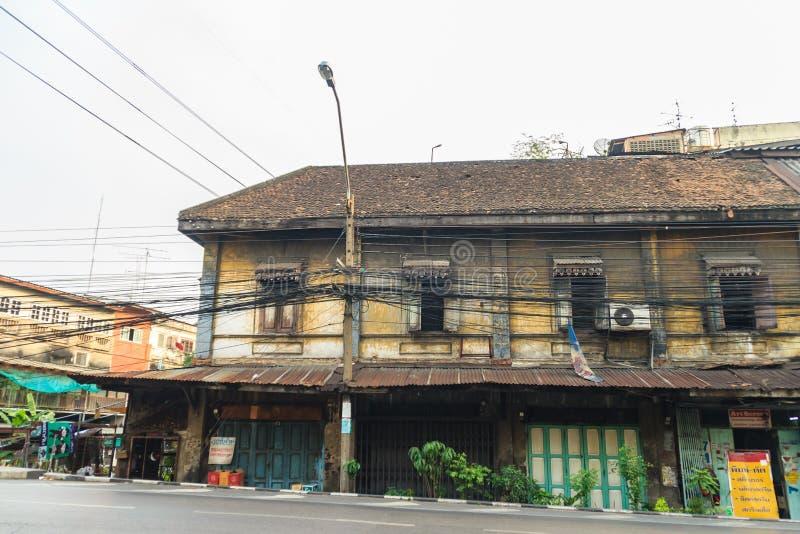 Bangkok, Tailandia - 2 marzo 2017: Vista del paesaggio dei Bu d'annata fotografia stock