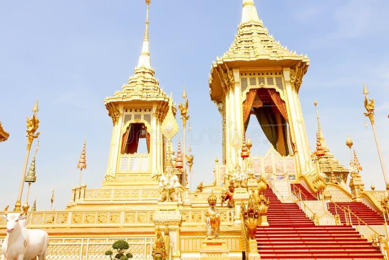 Bangkok, Tailandia - 4 novembre 2017; Bella vista dell'oro la R immagine stock libera da diritti