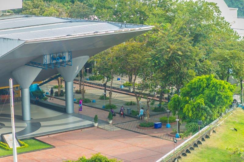Bangkok, Tailandia - 4 novembre 2017: Planetario di Bangkok, la o immagini stock libere da diritti