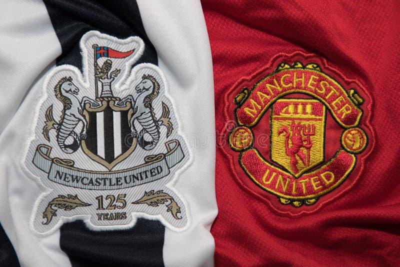 BANGKOK, TAILANDIA - 19 OTTOBRE: Il logo del Newcastle United e fotografie stock libere da diritti