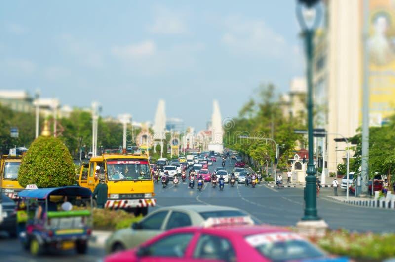Bangkok, Tailandia - 24 04 2019 uno de las calles principales de Bangkok, Tailandia fotografía de archivo