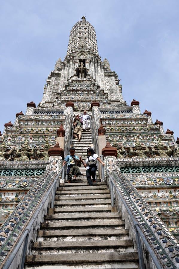 Bangkok, Tailandia: Wat Arun (tempiale dell'alba) fotografie stock libere da diritti