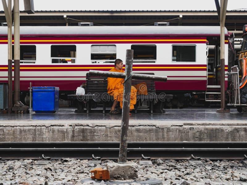 BANGKOK TAJLANDIA, CZERWIEC 7 2019 -, dworzec Hua Lamphong obrazy royalty free