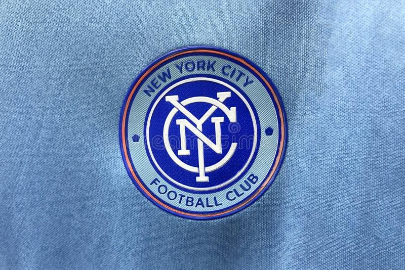 BANGKOK TAJLANDIA, CZERWIEC, - 26: Logo Miasto Nowy Jork futbol C fotografia royalty free