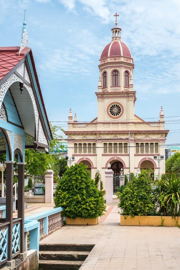 Bangkok, Tajlandia: Kościół Santa Cruz znany jako Kudi Chin obrazy stock