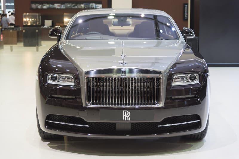 BANGKOK TAJLANDIA, KWIECIEŃ, - 4: Nowy Klasyczny samochodowy gatunek Rolls Royce fotografia royalty free