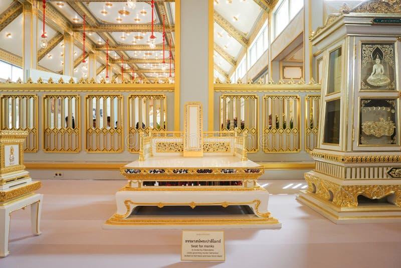 Bangkok Tajlandia, Listopad, - 10, 2017: Królewska Crematorium wystawa królewiątko Bhumibol Adulyadej przy SanamLuang zdjęcie royalty free