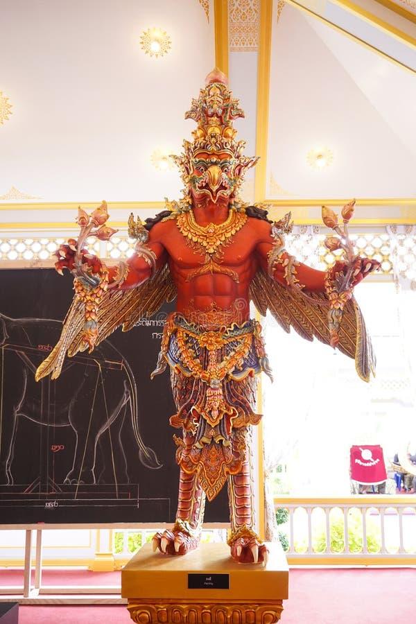 Bangkok Tajlandia, Listopad, - 10, 2017: Królewska Crematorium wystawa królewiątko Bhumibol Adulyadej przy SanamLuang obrazy stock