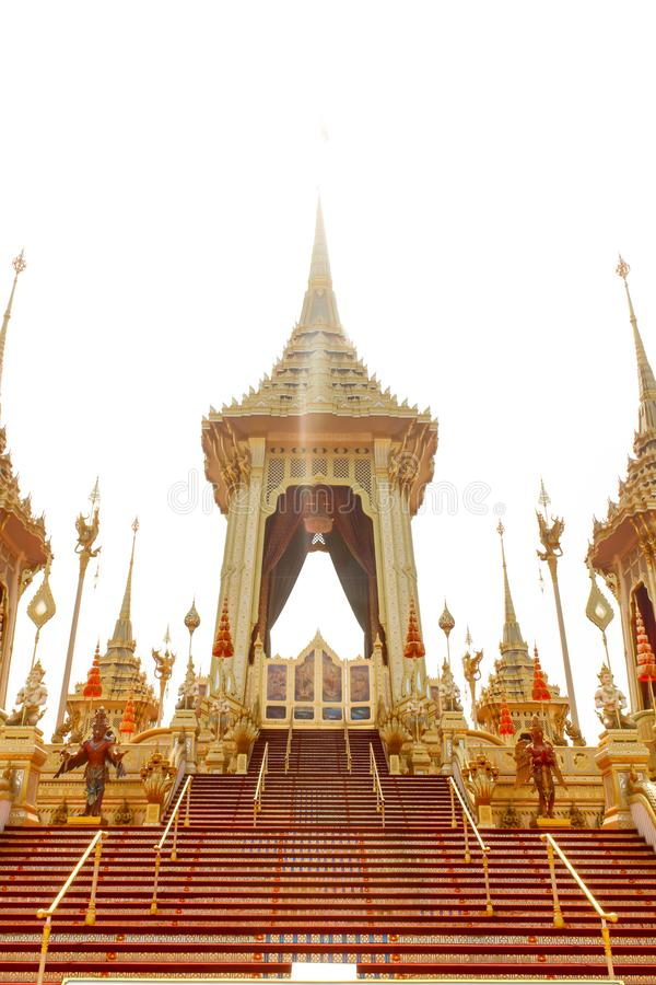 Bangkok Tajlandia, Listopad, - 04, 2017; Królewski Crematorium dla obrazy stock