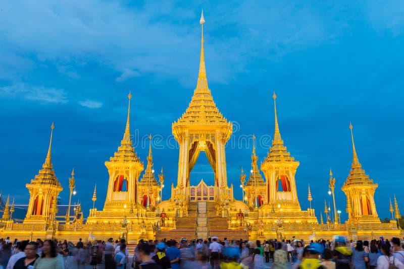 BANGKOK TAJLANDIA, LISTOPAD, - 15, 2017: Królewski Crematorium fo fotografia royalty free