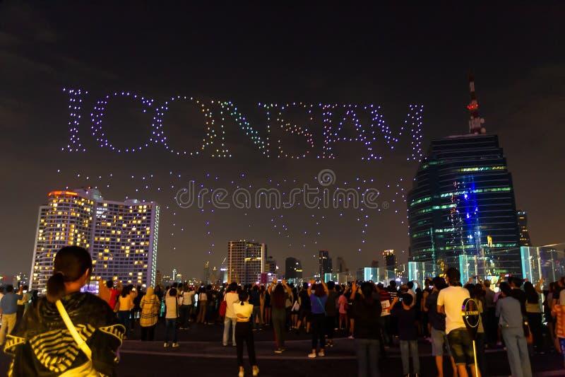 Bangkok Tajlandia, Listopad, - 9, 2018: Uroczysty otwarcie IconSiam 1, zdjęcie stock