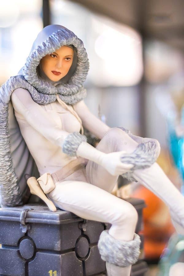 Bangkok Tajlandia, Maj, - 6, 2017: portreta strzał Padme Amidala w gwiezdna wojna filmu na pokazie przy Środkowym światem, Bangko zdjęcie royalty free