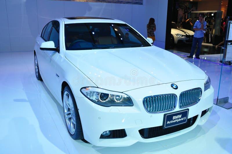 BANGKOK TAJLANDIA, MAR, - 30: BMW Aktywny hybryd 5 sh obrazy royalty free