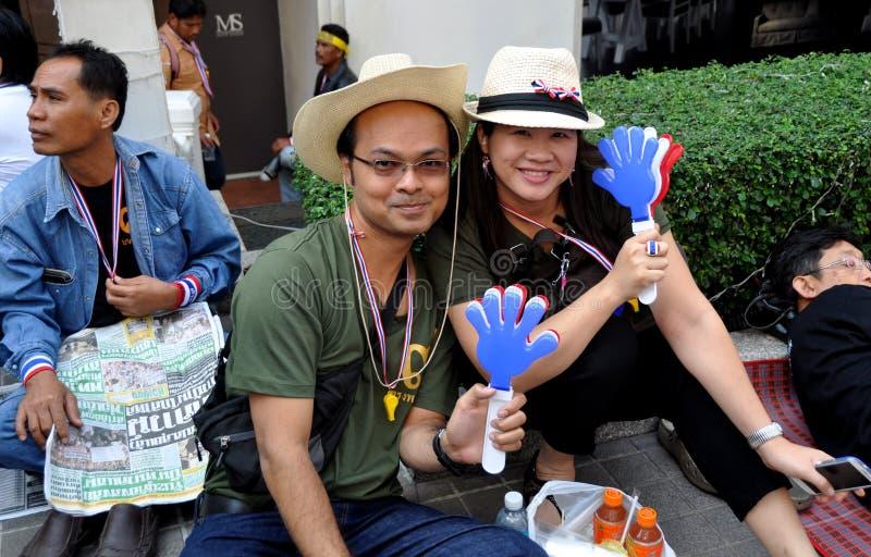 Bangkok, Tajlandia: Operacja Zamykał Bangkok Protestors zdjęcie royalty free
