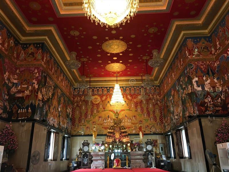 Bangkok, Tajlandia Październik 21,2018 Wat Hua Lampong Buddyjska świątynia zdjęcie royalty free