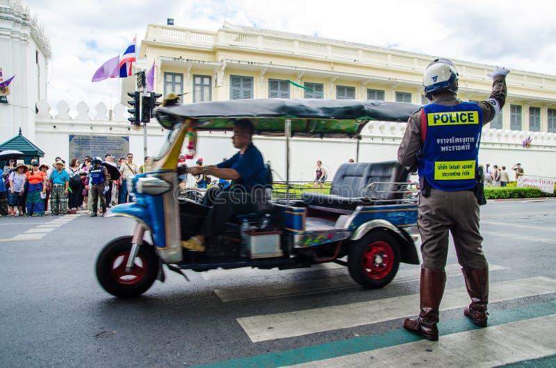 Bangkok, Tajlandia: policja drogowa fotografia stock