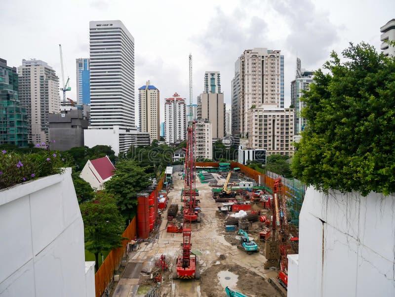 Bangkok Tajlandia, Sierpień, - 6, 2017: Budowa buil obraz stock