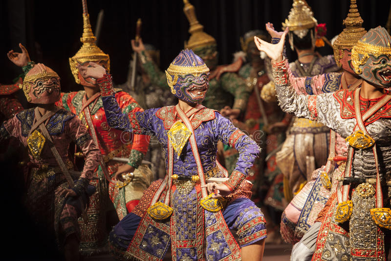 BANGKOK TAJLANDIA, SIERPIEŃ 7 hanuman bracia - jeden część Praram zdjęcie royalty free