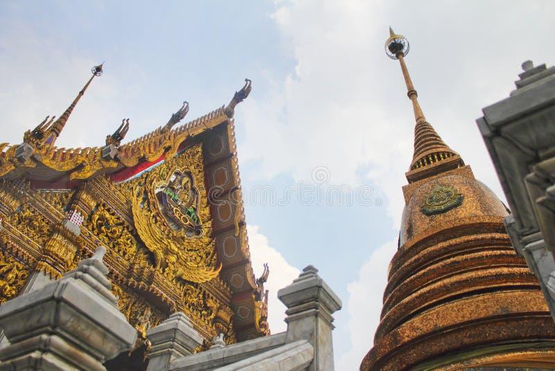 bangkok tempel thailand arkivfoto