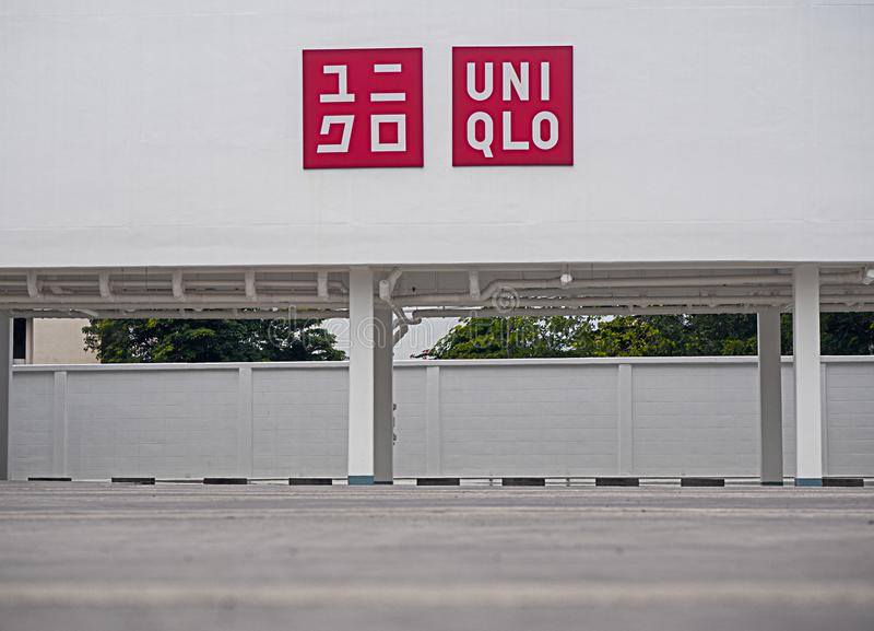 BANGKOK, Thaïlande-août, 12 2018 : Magasin d'Uniqlo dans Thailnd, stationnement d'Uniqlo, photos libres de droits