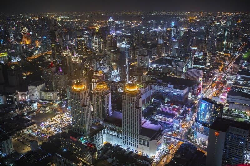 Bangkok Thaïlande - august21,2018 : scène courbe o de nuit de vue photographie stock