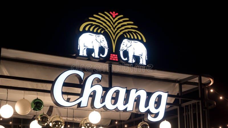 BANGKOK, THAÏLANDE - 30 DÉCEMBRE 2017 : Chang Craft Selection Logo dans le festival Bangkok de bière Chang est possédé par ThaiBe image stock