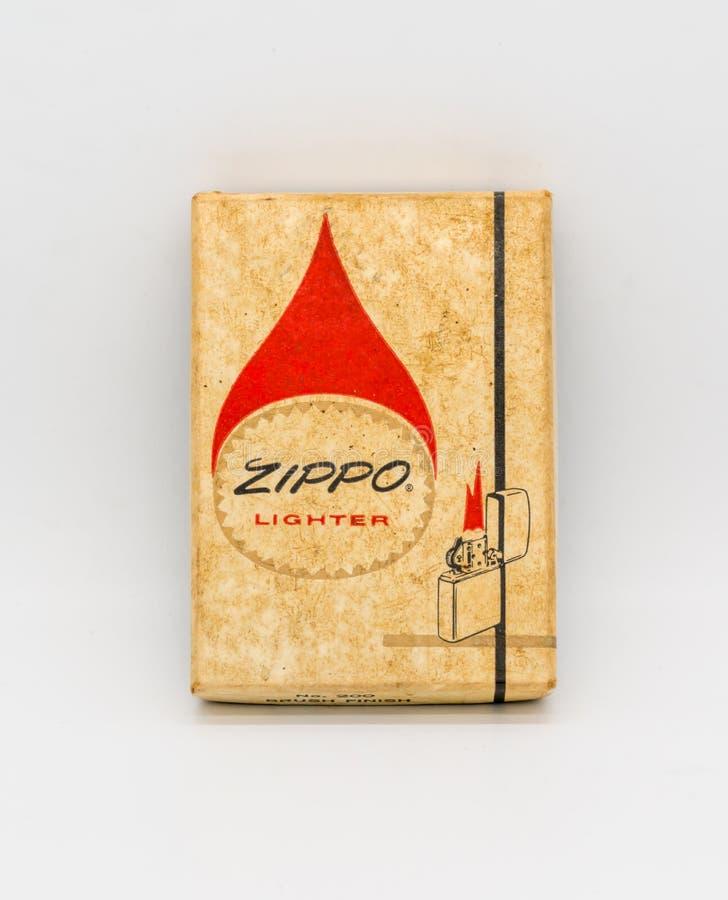 Bangkok, Thaïlande - 20 décembre 2017 : Vintage Zippo Lighter Limited image stock