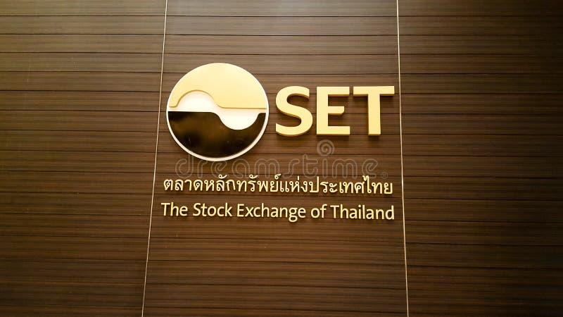 BANGKOK, THAÏLANDE - 3 FÉVRIER 2019 : Devant la bourse des valeurs du bâtiment de la Thaïlande, elle a connu car l'ENSEMBLE e photo stock