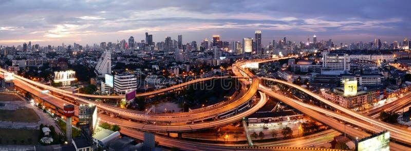 Bangkok, Thaïlande - 16 janvier 2016 : Horizon de Bangkok avec la ville image stock