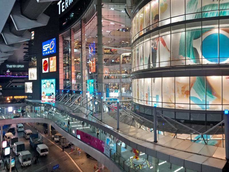 Bangkok, Thaïlande - 14 janvier 2018 : Terminal extérieur 21 Asok photo libre de droits