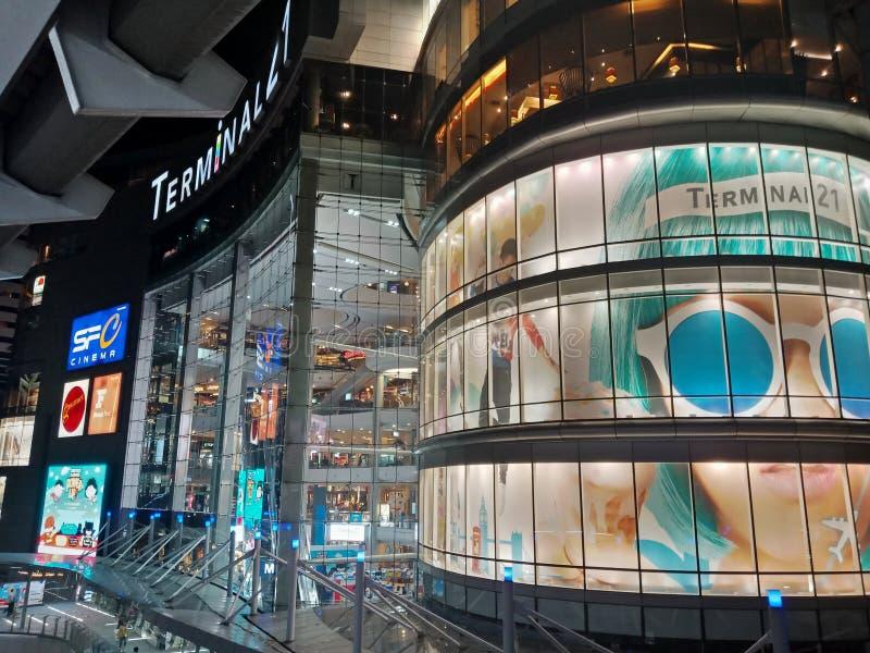 Bangkok, Thaïlande - 14 janvier 2018 : Terminal extérieur 21 Asok photos stock