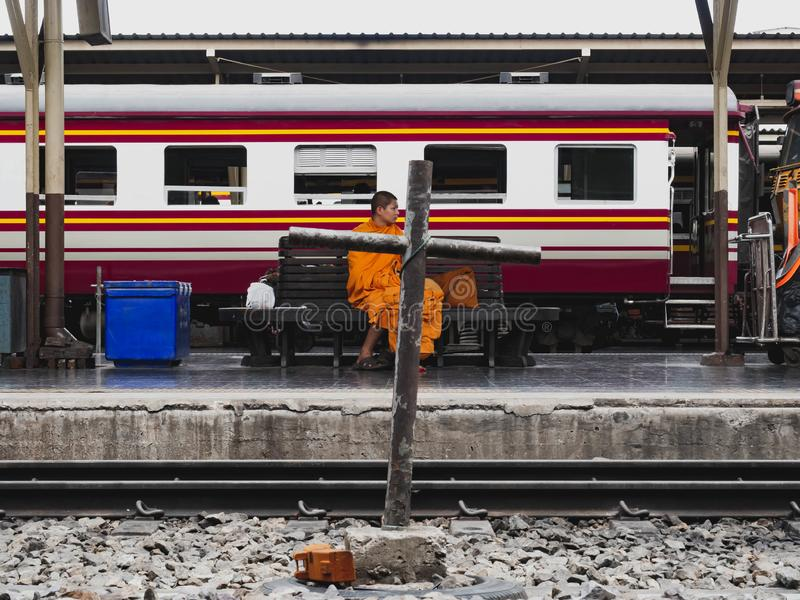 BANGKOK THAÏLANDE - 7 JUIN 2019, station de train Hua Lamphong images libres de droits