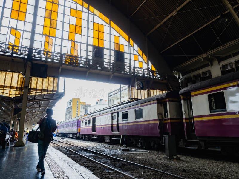 BANGKOK THAÏLANDE - 7 JUIN 2019, station de train Hua Lamphong photographie stock libre de droits
