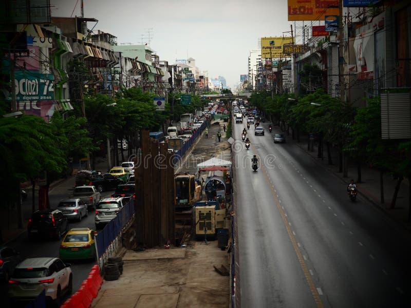Bangkok, Thaïlande Le 26 mai 2018 situation du trafic pendant dessous photographie stock