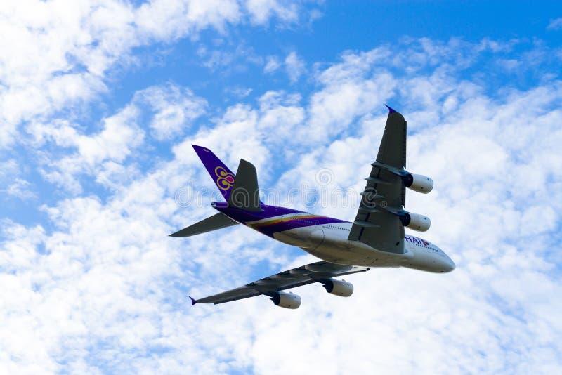 Bangkok, Thaïlande - 26 mars 2016 : Avion de Thai Airways, sur photo stock