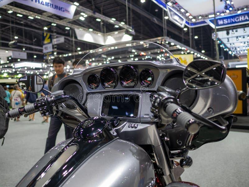 Bangkok, Thaïlande - 30 novembre 2018 : Harley-Davidson Motorcycle et accessoire au MOTEUR international de l'expo 2018 de moteur photos libres de droits