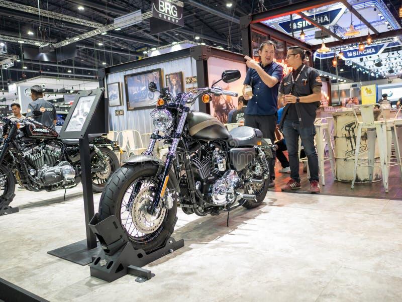 Bangkok, Thaïlande - 30 novembre 2018 : Harley-Davidson Motorcycle et accessoire au MOTEUR international de l'expo 2018 de moteur image libre de droits