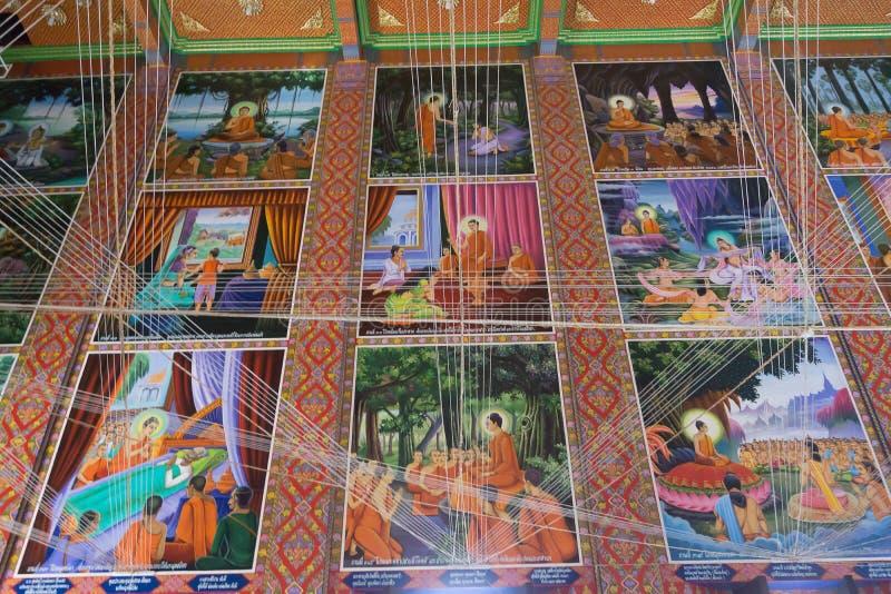 BANGKOK, THAÏLANDE - 24 OCTOBRE 2017 ; Art historique de Bouddha dedans image libre de droits