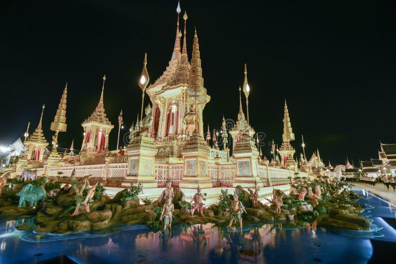 Bangkok, Thaïlande - 20 octobre 2017 la cérémonie royale de création images stock