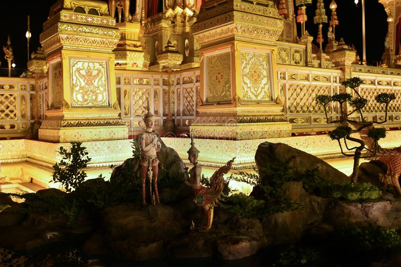 Bangkok, Thaïlande - 20 octobre 2017 la création royale Cereony image libre de droits
