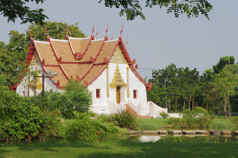 BANGKOK, THAÏLANDE - 30 OCTOBRE 2013 : Le Siam antique, Wihan chez Wat Phumin, Nan Province photos libres de droits